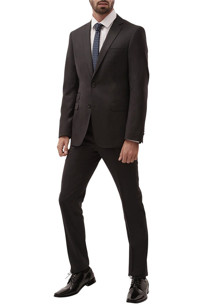charcoal grey slim fit suit