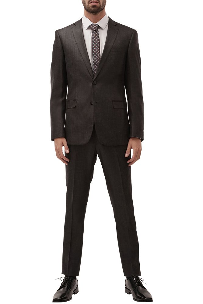 Dark Heather Grey Suit