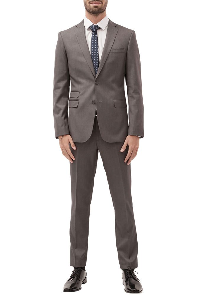 Heather Grey Slim Fit Suit